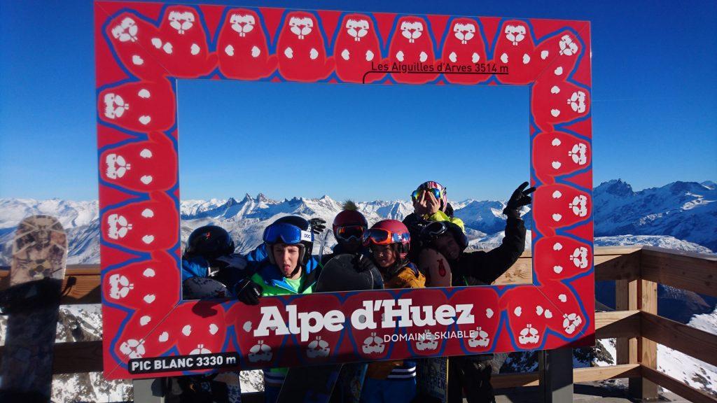 Photo de groupe au Pic Blanc